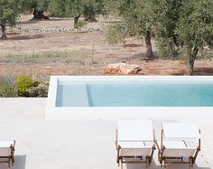 <p>Overlooking the sea and the olive groves, the gorgeous minimal farmhouse 'Masseria Moroseta' is located in Ostuni, Italy. White washed walls build a small gateway – a mix of priva