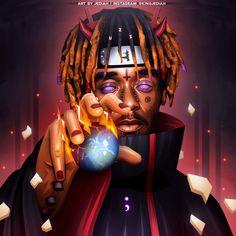 """Lil Uzi Vert ""Pain"" Naruto & Devil Themed Artwork Designed by Me / RTs & Likes Appreciated @LILUZIVERT"""