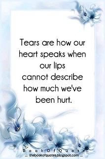 Tears are how our heart speaks when our lips cannot describe how much we've been hurt.  Marsh I know you are with Max and now I have two angels watching over me & daddy