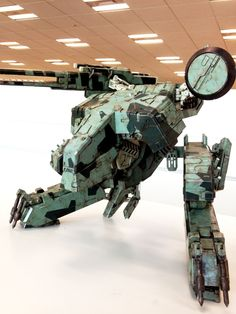 Kojima's ( having fun with his huge sample final model of REX by that just arrived! Metal Gear Rex, Metal Gear Solid Series, Kojima Productions, Ghost In The Machine, Gear Art, Space Fantasy, Robot Concept Art, Robot Design, Mechanical Design