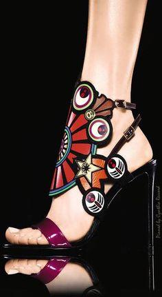 Women's Fashion High Heels : Nicholas Kirkwood – – Sandales, Motifs Multicolores Dream Shoes, Crazy Shoes, Me Too Shoes, Zapatos Shoes, Shoes Heels, Heeled Sandals, Ankle Shoes, Louboutin Shoes, Leather Sandals