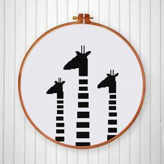 Black White Giraffes cross stitch pattern от ThuHaDesign на Etsy More