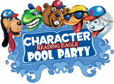 Character Pool Party   2 1/2 hour all-you-can-eat picnic, pool, phunland wristbands for kids and enjoy visitations from all of the Fightins mascots and characters
