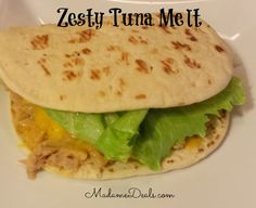 Low Calorie Zesty Tuna Melt #recipes #inspireothers