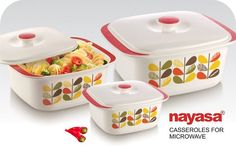 Nayasa offers this set of 3 casseroles @ best prices.