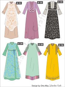 Creativity Tutorial: Pesan Pola Busana Dress Design Patterns, Dress Design Sketches, Fashion Design Sketches, Abaya Mode, Mode Hijab, Abaya Designs, Abaya Fashion, Fashion Dresses, Little Girl Dresses