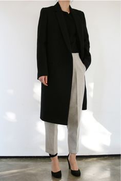 Chic Style - classic tailoring with longline jacket