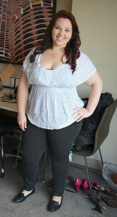 Plus Size OOTD: Polka Dot Blouse via @RavingsByRae