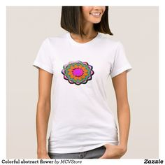 Colorful abstract flower - women t-shirt