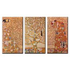 Berkin Arts Encadr/é Gustav Klimt Gicl/ée Toile Imprimer Peinture D/écoration Reproduction Affiche Print Arbre de la Vie