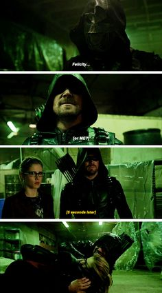 """""""Felicity or me?"""" - Prometheus, Oliver and Felicity #Arrow"""