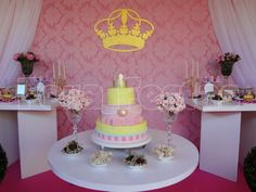 Pretty Pink Princess Party.  See more party ideas at CatchMyParty.com.  #princess #partyideas