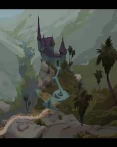 Haunted Castle Sketches, Friedemann Allmenroeder on ArtStation at https://www.artstation.com/artwork/6x6bW