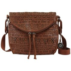 The Sak Silverlake Leather Crossbody ($111) ❤ liked on Polyvore featuring bags, handbags, shoulder bags, bolsos, purses, tobacco tribal perf, leather cross body purse, brown leather crossbody, brown leather shoulder bag and leather purse