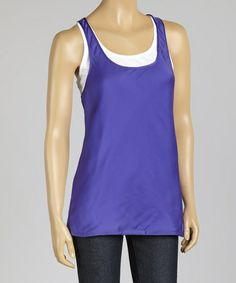 Look what I found on #zulily! Periwinkle Twist-Back Layered Tank - Women & Plus by DKNYC #zulilyfinds