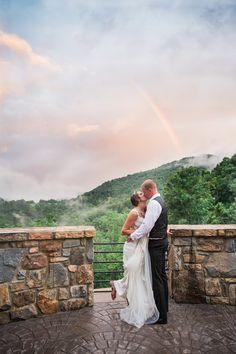 castle ladyhawke wedding I bride I groom I bride and groom I rainbow I fog I…