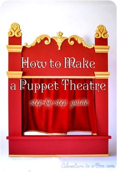 How to Make a Puppet Theatre: DIY tutorial on how to build a wooden puppet/shadow theatre for kids from scratch