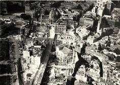 Foto storiche di Roma - Veduta aerea della via Alessandrina durante le demolizioni per la costruzione di Via dell'Impero Anno: 1932