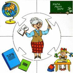 leerkracht Community Helpers Preschool, Preschool Education, Preschool Themes, Preschool Learning, Preschool Crafts, Teaching, English Picture Dictionary, Mig E Meg, People Who Help Us