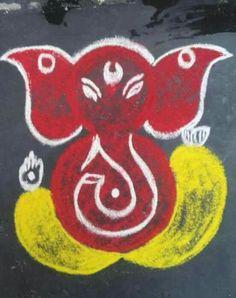 Rangoli Designs Latest, Simple Rangoli Designs Images, Rangoli Designs Flower, Rangoli Border Designs, Rangoli Ideas, Rangoli Designs Diwali, Rangoli Designs With Dots, Easy Rangoli, Free Hand Rangoli Design