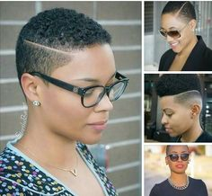"""Short Hair don""""t care. Cred: SteptheBarber & Luxury Lifestyle - New Site Short Natural Haircuts, Tapered Natural Hair, Pelo Natural, Short Black Hairstyles, Short Hair Cuts, Natural Hair Short Cuts, Hairstyle Short, Short Hair Undercut, Undercut Hairstyles"""