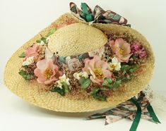 hat with flowers pictures - Google Search