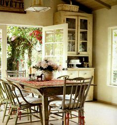 French Country Kitchen Design Ideas, Pictures, Remodel and Decor Purple Home, Cottage Living, Cottage Style, Cozy Cottage, Living Room, Romantic Cottage, Rustic Cottage, Cottage House, Shabby Cottage