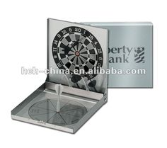 Double Sided Magnetic Dart Game In Aluminum Case
