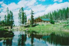 Log home on land in Montana