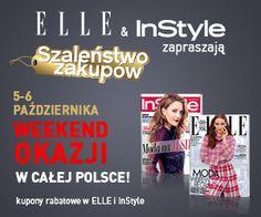 Serdecznie zapraszamy na wspólne zakupy z magazynami Elle i InStyle. W dniach 5-6 października klienci otrzymają 20% zniżki na jesienno-zimową kolekcję marki TATUUM!