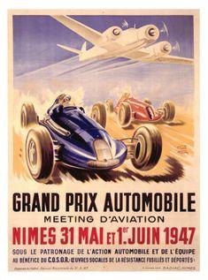 A Geo Ham print. Love that it has both a race car and an airplane.