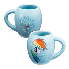 My Little Pony Rainbow Dash 18 oz. Oval Ceramic Mug - Vandor - My Little Pony - Mugs at Entertainment Earth