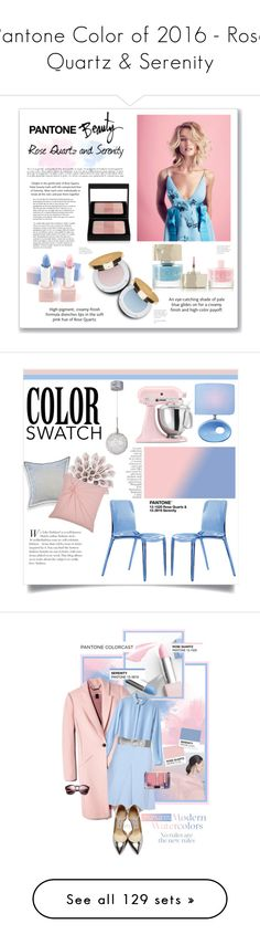 """""""Pantone Color of 2016 - Rose Quartz & Serenity"""" by watereverysunday ❤ liked on Polyvore featuring beauty, Whiteley, Bobbi Brown Cosmetics, Isaac Mizrahi, Smith & Cult, sephora, pantone2016, pantonebeauty, interior and interiors"""