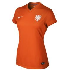 2a6170a5ce8 Nike Netherlands Ladies 2014 World Soccer Home Replica Performance Jersey -  Orange