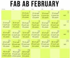 Fab ab feb Planks how I love to hate you!