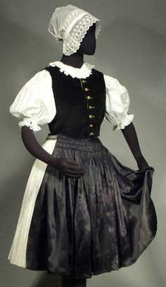 There are several different types of embroidery on the apron, blouse and skirt including stunning open cutwork and smocking embroidery done over pleating. Blouse And Skirt, Pleated Skirt, Folk Costume, Costumes, Types Of Embroidery, Bobbin Lace, Cutwork, Smocking, Skirts