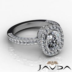 Cushion-Diamond-Engagement-Bezel-Halo-Pre-Set-Ring-EGL-E-VS1-14k-W-Gold-2-54-ct