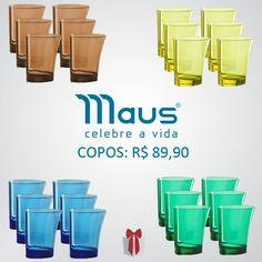 Muita cor para você aproveitar o verão. Com Maus você curte cada momento usando produtos com um design inovador.  #Marrom #Amarelo #Azul #Verde Decoração #Casa #AdoroPresentes #Inovador #qualidade #Maus #Copos