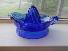 1930s Cobalt Blue Depression Glass Reamer by MyStarryNightsStudio, $199.95