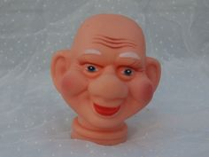 Big Eared Little Man Doll Head Vintage Craft Supply, 2.5 inches tall