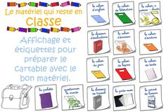 Ce que je mets dans mon cartable Mets, Bullet Journal, Support, College, French, Adhd, Back To School, Elementary Schools, Classroom Management