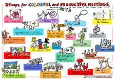 21 manieren voor kleurige en productieve vergaderingen