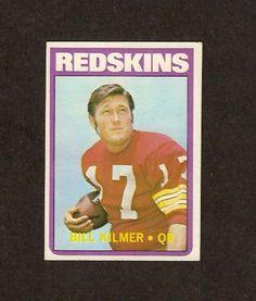 Billy Kilmer 1972 Topps Football Card #18 (Washington Redskins) by Topps. $2.50. 1972 Topps #18 - Billy Kilmer