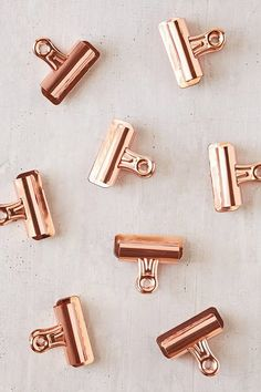 Copper Bulldog Clips Set from Urban Outfitters. Shop more products from Urban Outfitters on Wanelo. Gold Gold, Pink And Gold, Office Supply Organization, Copper Rose, Copper Penny, Copper Kitchen, Desk Accessories, Copper Accessories, Messing
