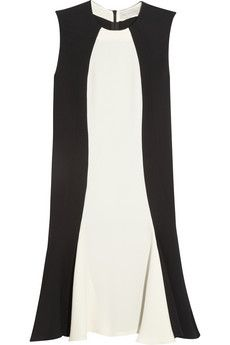 Stella McCartney | Contrast crepe dress | NET-A-PORTER.COM