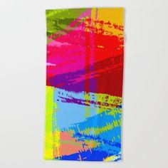 Rainbow Chaos Summer Beach Towel by Roberlan on Society6