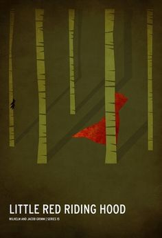 Little Red Riding Hood ~ Minimal Movie Poster by Christian Jackson ~ Classic Children's Story Series Little Red Ridding Hood, Red Riding Hood, Poster Minimalista, Childhood Stories, Book Posters, Poster Series, Movie Posters, Disney Posters, Art Posters