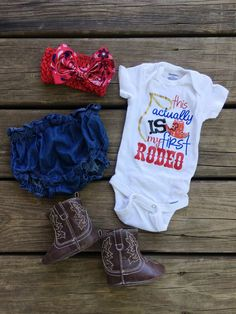 Babys Rodeo Outfit Onesie Jean Shorts Bandana Bow Boots Baby Girl Outfit b., Babys Rodeo Outfit Onesie Jean Shorts Bandana Bow Boots Baby Girl Outfit b. Rodeo Outfits, Baby Outfits, Kids Outfits, Toddler Outfits, Toddler Girls, Country Babys, Bandana Bow, Western Babies, Baby Kids Clothes
