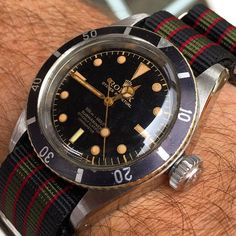 """The Rolex Submariner, Ref. 6538 """"James Bond"""" watch. My all time favourite!"""