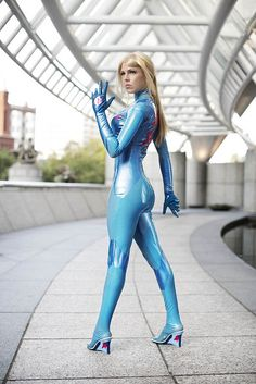 Miracole Burns as Samus Aran  at DragonCon by Anna Fischer  via Flickr #Costume #Ideas #Cosplay #DragonCon #Atlanta #Halloween